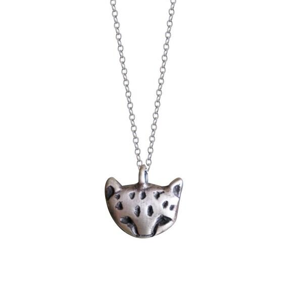 Cheetah Cub Face Necklace