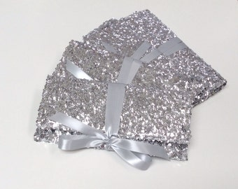 Silver sequin clutches // bridesmaid clutch // wedding bags // the ALEXIS envelope bow clutch