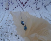 Just pearls - Blueberry Dangle Earrings  VK-E254
