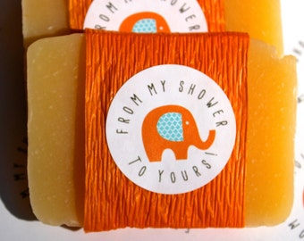 Soap Favors, Baby or Bridal Shower, From My Shower To Yours, Elephant