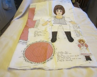 Panel to make Mary Anne Authentic Victorial Rag Doll with her own doll