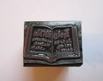 Vintage Letterpress Printers Block Bible