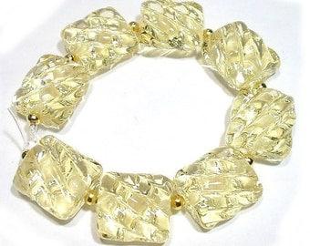 Chablais Groovy Nuggets Handmade Glass Lampwork Beads