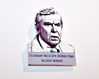 BEN MATLOCK Mystery Quote Pin