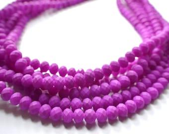 Aria - Purple Matte Bridesmaid Statement Necklace