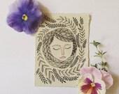 Mitzie original mini watercolor 4x3 inches