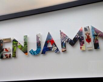 8 letters- CUSTOM superhero alphabet letters