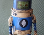 robot Zombie space ranger found object sculpture