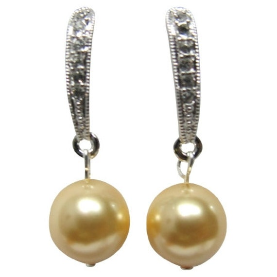 Modern Styling Earrings Yellow Pearl Gifts For Holiday Free Shipping In USA