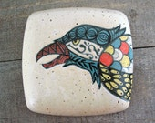 Raven Wall Pillow - Ceramic Plaque or Tile
