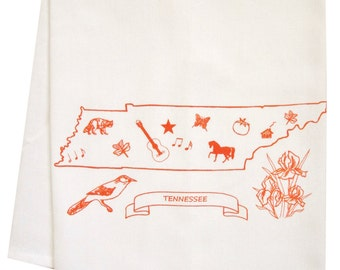 Tennessee organic  tea towel