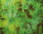 Hand dyed Cotton Fabric for Quilting or Applique - Berries on the Grass 1311BGFQ