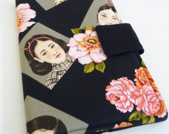 Kindle Fire Cover | Kindle Keyboard Cover in Asian Portraits and Flowers