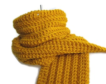 Mustard Yellow Wool Scarf Honey Gold Classic Men DRAKE Ready to Ship