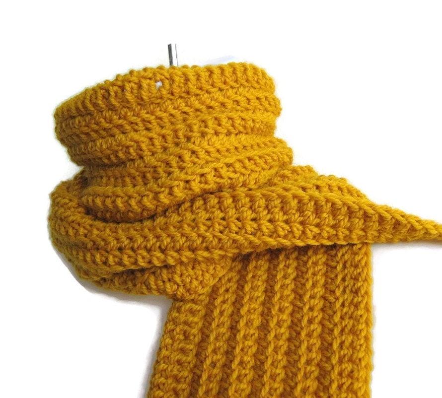 mustard yellow wool scarf honey gold classic ready