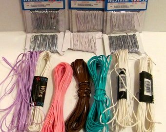 Elastic , Plastic, and Paper Cording Bundle
