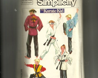 Vintage Simplicity Adults' Kimono in Two Lengths, Pants, Headband and Belt Pattern 7620