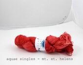 mt. st. helens - aquae singles, fingering weight sock yarn (dyed to orderk)