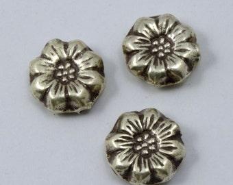 13mm Thai Sterling Silver Flower Bead #THS039