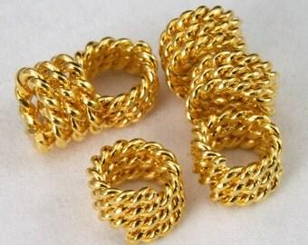 Gold Twist Coil Bead #MBC343