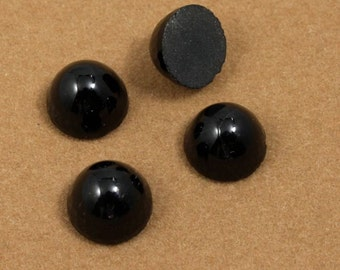 11mm Black High Dome Cabochon #503