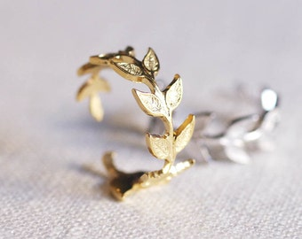 olive branch ring . delicate leaf ring . adjustable leaf ring . branch ring . twig ring . twig jewelry . leaf jewelry . arwen ring // 4ARWN