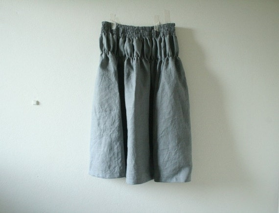 Amazing Grizas Tapered Linen Trousers In Gray  Lyst