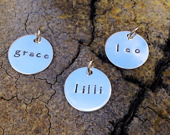 Stamped Sterling Name Disc
