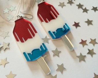 Firecracker Popsicle Earrings