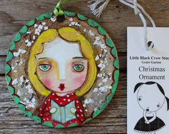 Christmas Carol singer, tree decoration, Christmas, Xmas