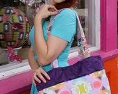 Purple Rustle Butterfly Art  Tote Bag