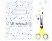 A5 This belongs to notebook with blank pages. Recycled paper made in the UK with illustrated cover, blank notebook
