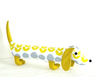 Lotta Jansdotter Modern Childrens Plush Wiener Dog Stuffed Doll Toy ARLO