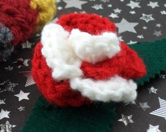Sarah Jane Smith - Crocheted Rose Ponytail Holder or Bracelet - Red and White (SWG-HP-DWSJ01)