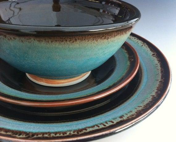 Ceramic Dinnerware Set Made to Order by clearmountaincraft ~ Geschirr Keramik