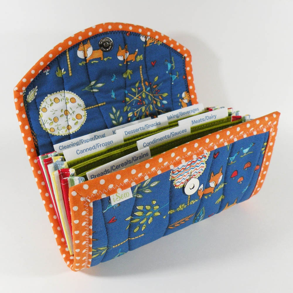 Coupon Organizer Blue Fox Coupon Wallet Coupon Holder By Isew