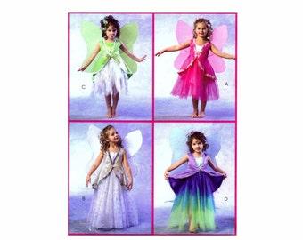Girls Fairy Dress Costume Sewing Pattern McCalls 4887 Pattern Sewing Pattern Size 2 - 3 - 4 - 5 UNCUT