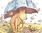 Pooh's Rainy Day 1 Cross Stitch Pattern PDF