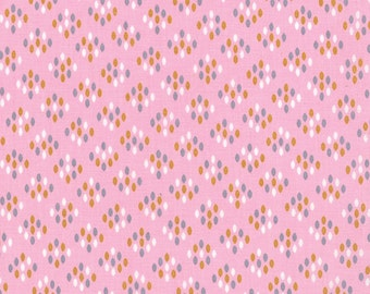 SALE - Color Me Happy - Cluster Drops in Pink: sku 10824-12 cotton quilting fabric by V and Co. for Moda Fabrics - 1 yard