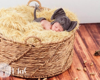 newborn photography prop elephant hat and diaper cover set