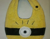 Infant Toddler Baby Bib yellow minion