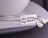 My Mom My Friend Bracelet, Mother's Day Gift, Personalized Mother's Day Bracelet, Gift for Mom