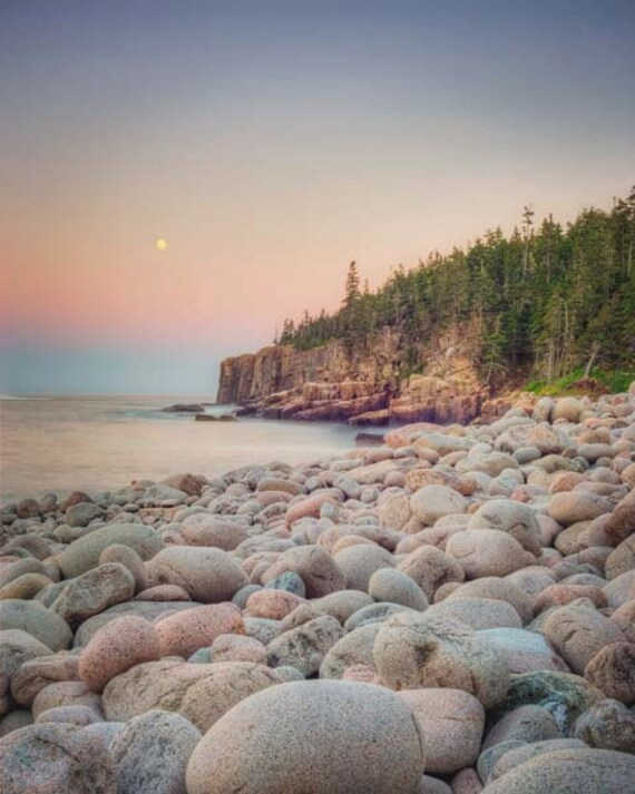 Maine Landscape Photo, Beach Photography, Ocean Photograph, Acadia National Park, Ocean Photo, Beach Photograph