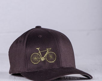 OOPS! SALE Vital Bicycle Flexfit Fitted Baseball Cap Olive on Brown L/XL 007