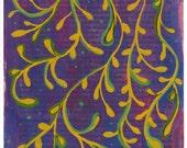 Lineage - Original Gouache Painting on Antique Book Paper