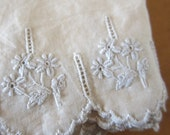 Vintage Floral Embroidered Scalloped Edge Cotton Trim
