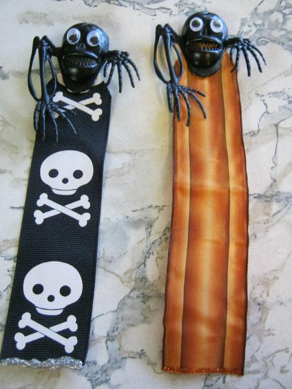 Skeleton Ribbon Monster Bookmarks
