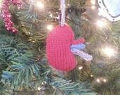 Kidney ornament - Knitted kidney plush