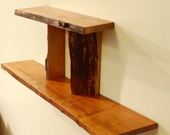 No. 32 - Two Level Live Edge Cherry Shelf
