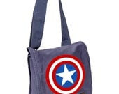 Limited Edition Captain America Field Bag, Laptop Bag, Purse, Diaper Bag, Messenger Bag